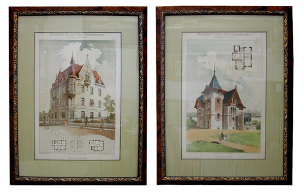 German Victorian Architectural Prints