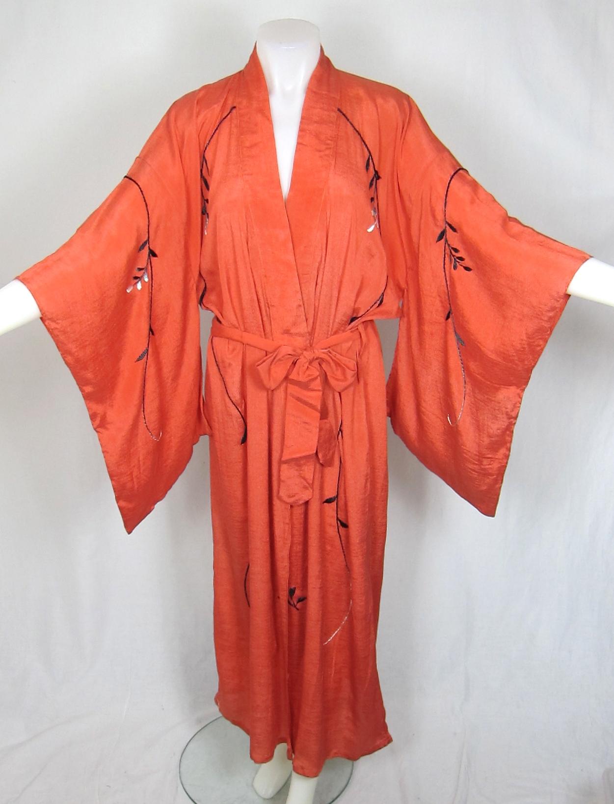Orange Kimono - Aztec Print