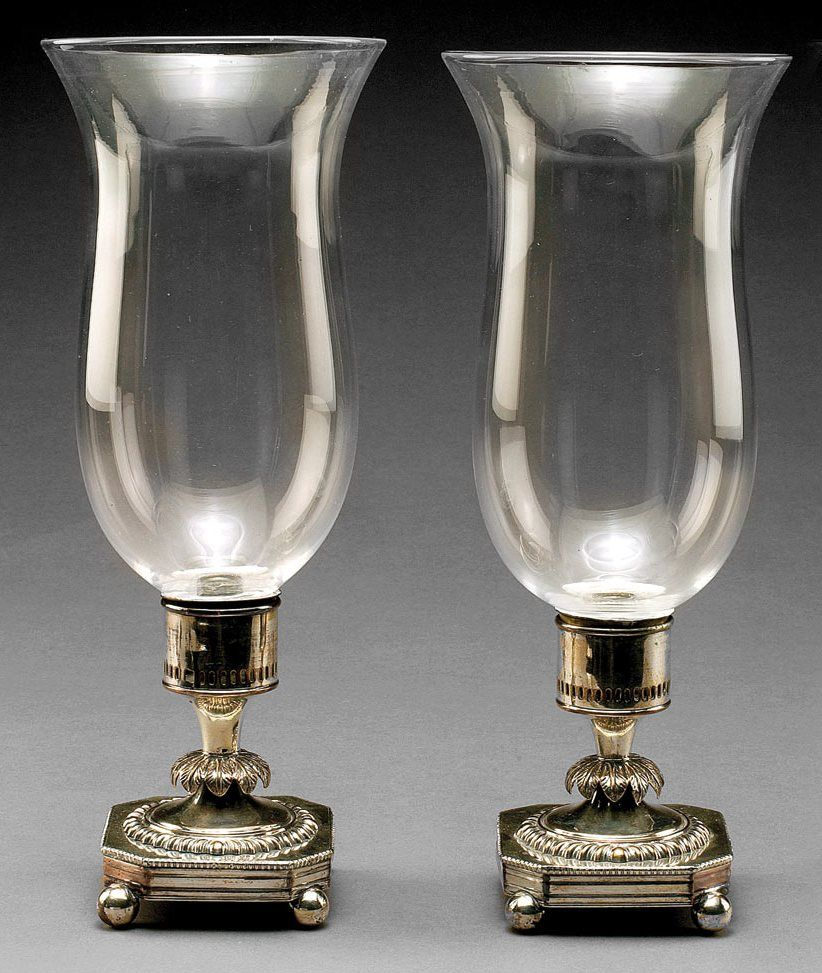 regency sheffield plate hurricane lamps circa 1810 1825 for sale. Black Bedroom Furniture Sets. Home Design Ideas
