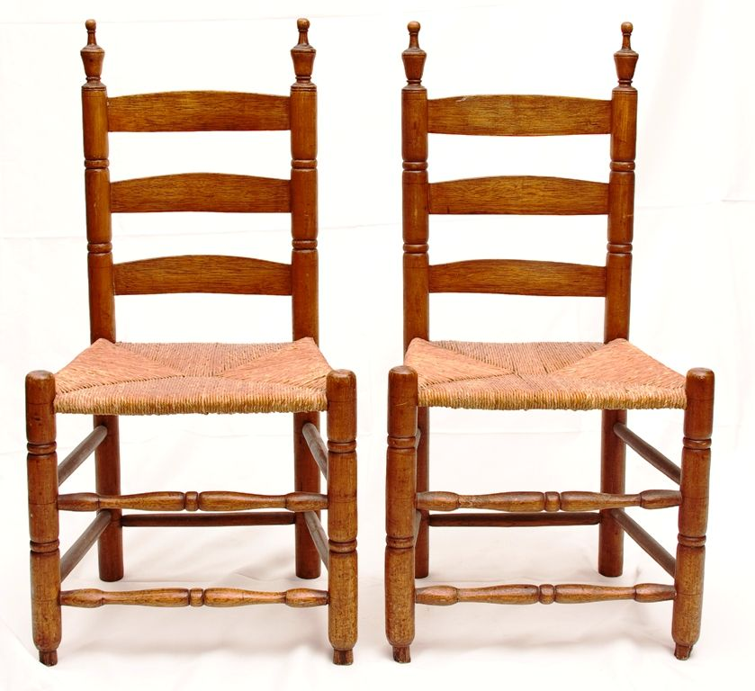 Late 18th Early 19th C New Jersey Bergen County Pair Of Ladder - Antique Furniture Dealers Bergen County Nj - Furniture Ideas