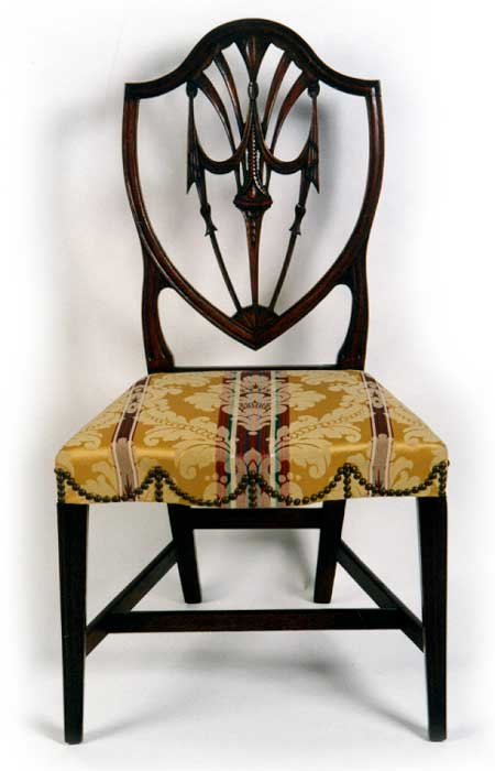 Rare 18th Century American Federal Hepplewhite Mahogany R I Side Chair C1795 1805 For Sale