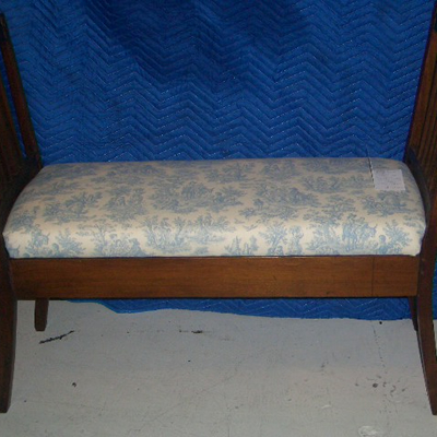 Mahogany Two Seater Window Seat For Sale