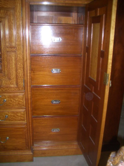 Satinwood Armoire For Sale | Antiques.com | Classifieds