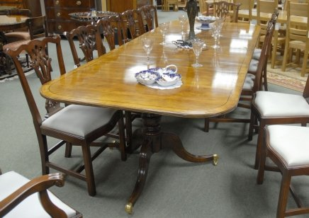 10 foot english regency walnut dining pedestal table for for 10 ft dining table sale