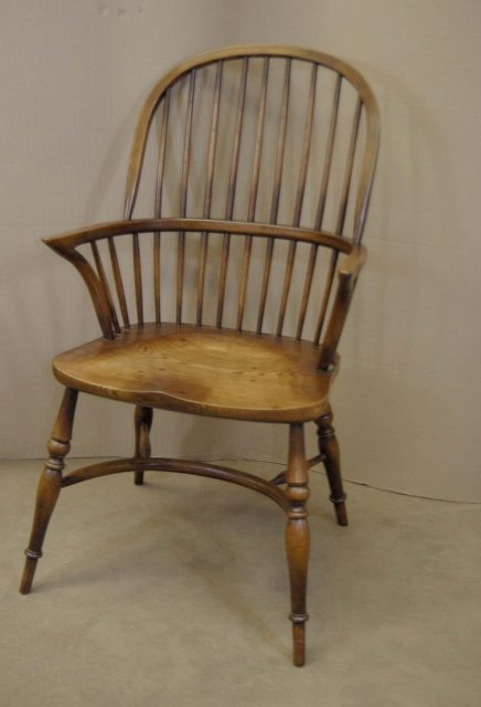 8 Farmhouse English Windsor Dining Chairs Yew For Sale Antiques