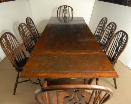 Description  You are vieiwing a gorgeous set of 8 Windsor arm chairs around  a gorgeous matching oak refectory table  I hope the photos do this stunning  set  ENGLISH OAK WINDSOR CHAIR   RUSTIC REFECTORY TABLE SET For Sale  . Antique Windsor Dining Chairs For Sale. Home Design Ideas