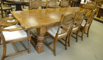 Chunky abbey farmhouse refectory table oak rustic tables - Table ferme chene ...
