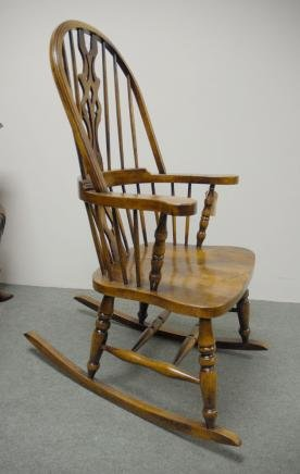 Description You are viewing a gorgeous hand carved English Windsor rocking chair. The Windsor chair is a perennial favourite so imagine my delight to find ... & HAND CARVED ENGLISH WINDSOR ROCKING CHAIR FARMHOUSE CHAIRS For Sale ...