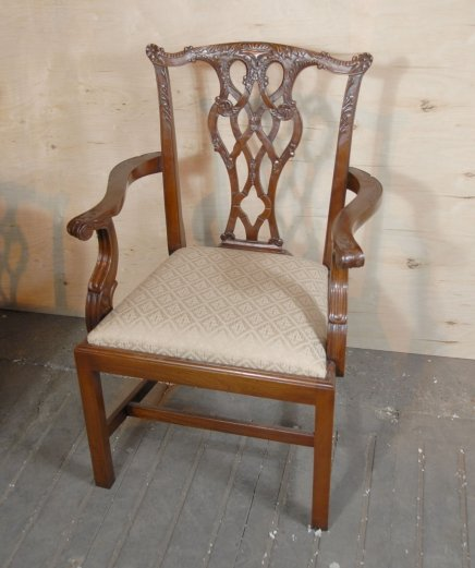 Antique Chippendale Dining Room Furniture: 8 ENGLISH CHIPPENDALE DINING CHAIRS For Sale