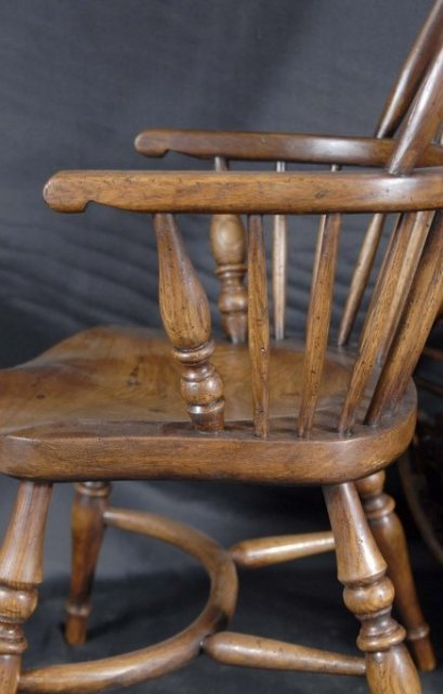 PAIR MINI KIDS WINDSOR RUSTIC DINING CHAIR CHAIRS ANTIQUE For Sale Antiques