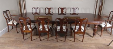 14 foot victorian dining table 10 queen anne chairs for 10 ft dining table sale