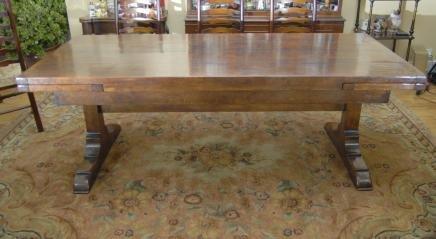10 ft english oak farmhouse table farmhouse extender for for 10 foot farmhouse table plans