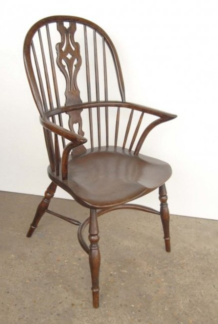 FRENCH RUSTIC KITCHEN DINER SET OF 8 ENGLISH WINDSOR DINING CHAIRS For