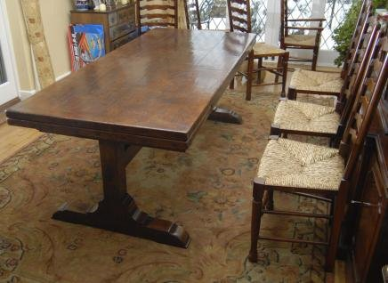 10 Ft English Oak Farmhouse Table Extender For