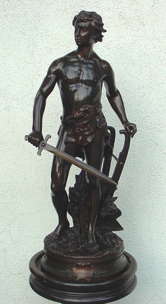 Superb Antique Male Nude Bronze by Gaudez from