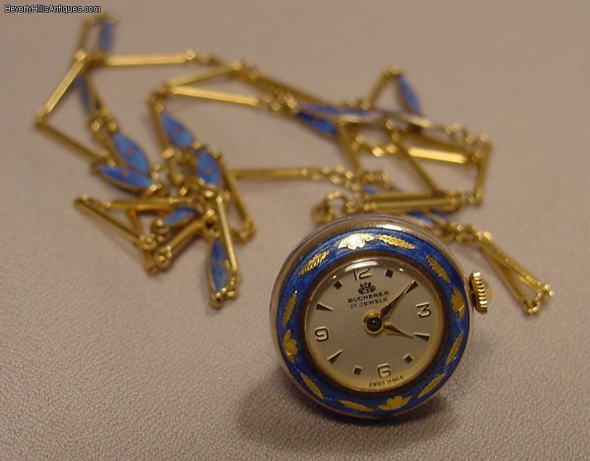 Bucherer enamel silver gilt necklace pendant watch for sale bucherer enamel silver gilt necklace pendant watch for sale mozeypictures Choice Image