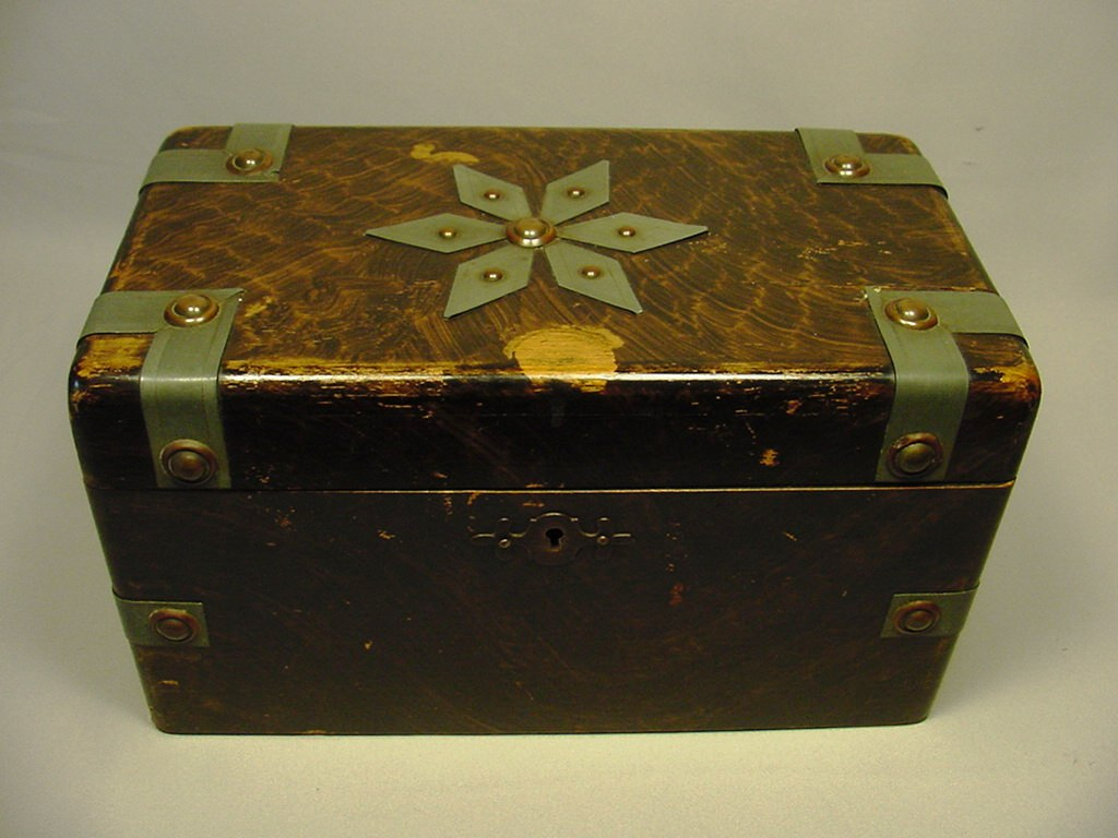 Large Antique Mixed Metal Wood Jewelry Box For Sale Antiquescom