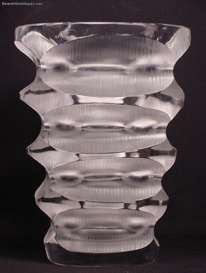 Large Lalique Art Deco Style Vase For Sale Antiques Classifieds
