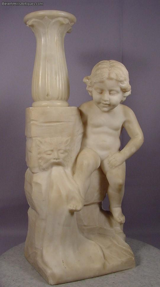 how to clean alabaster sculpture