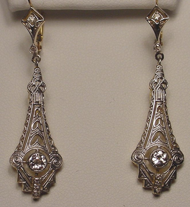 Art Deco Chandelier Earrings Image Collections Home And