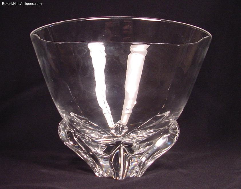 Mint Condition Large Steuben Crystal Vase Or Bowl For Sale