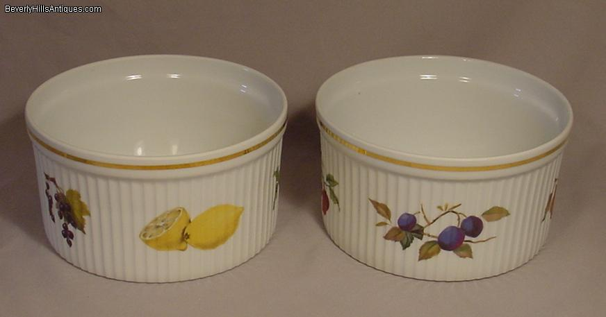 2 Royal Worcester EVESHAM Round Soufflé/Casserole Dish For ...