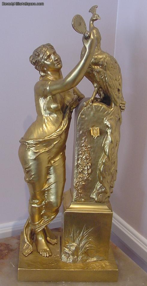 Exquisite Gilt Bronze Sculpture Hera Signed H Levaseur