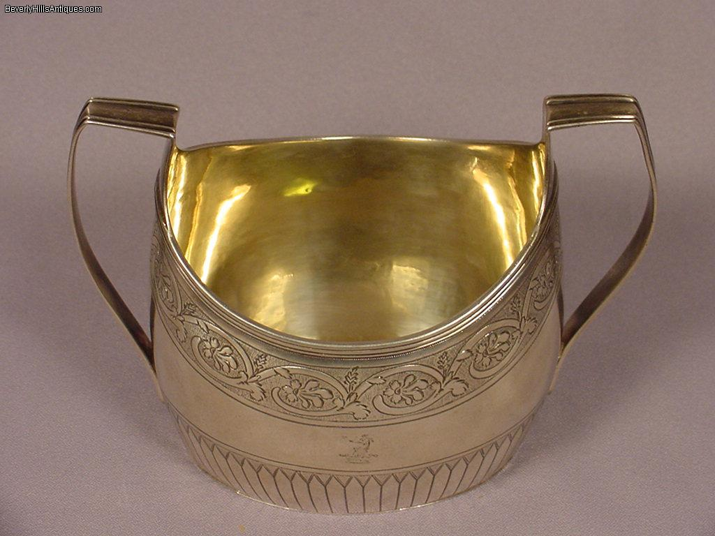 Antique 1798 Georgian Sterling Silver Handled Bowl For