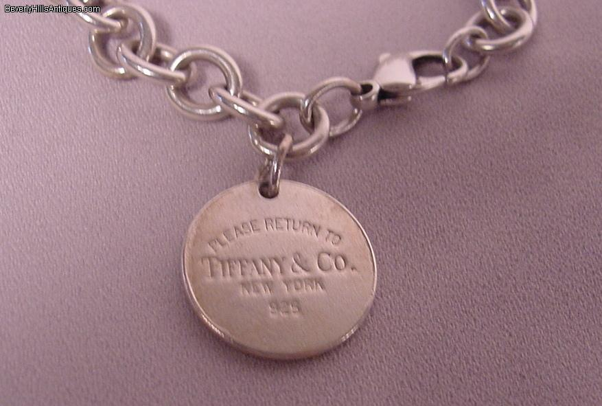 Tiffany Amp Co Sterling Silver Circle Charm Bracelet For