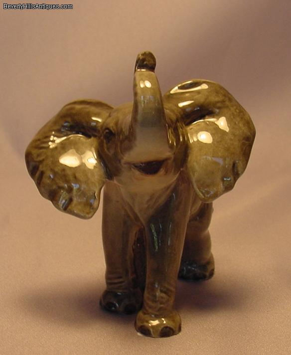 Antiques Collectibles: Goebel West Germany Elephant With Trunk Up For Sale