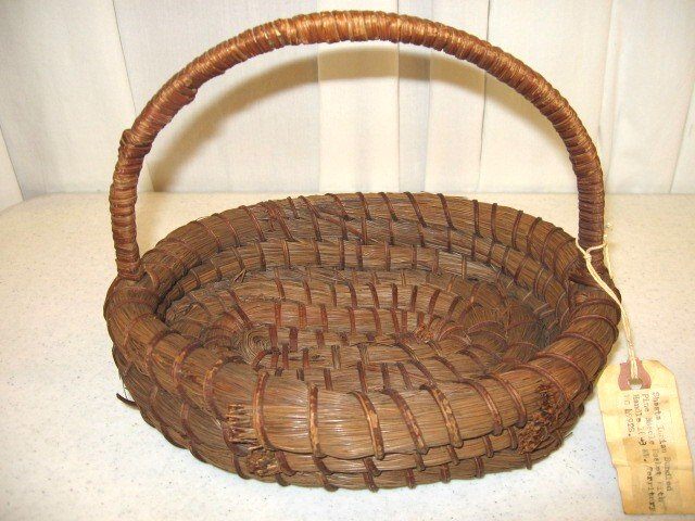 Art Baskets For Sale : Nw territory shasta indian pine needle basket for sale