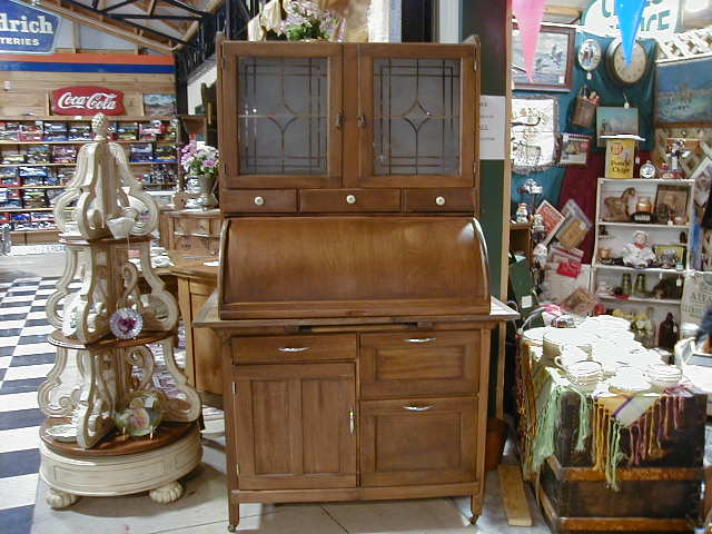 Kitchen cabinet w frosted glass doors amp great for sale antiques com