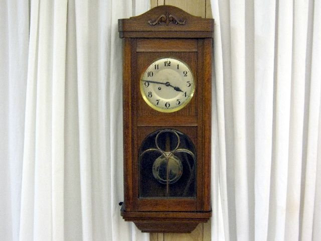 1900 39 s lead glass hand carved wall clock from germany for