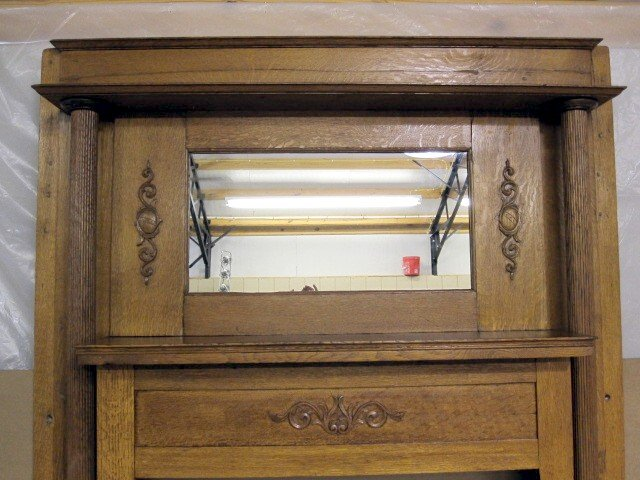 Nice Antique Oak Arts Crafts Fireplace Mantel Mantle For Sale Classifieds