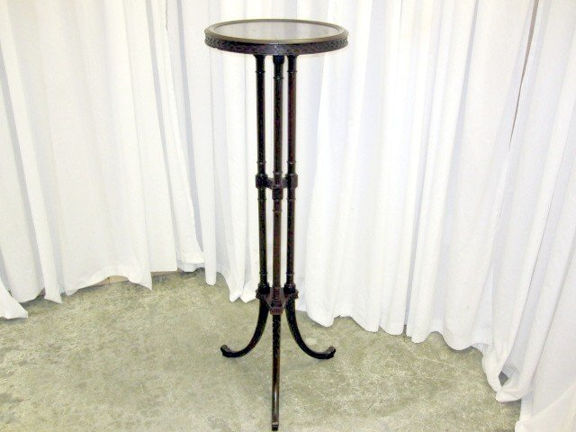 Antique Mahogany Fern Plant Table Stand 3 Legs 46 Tall For