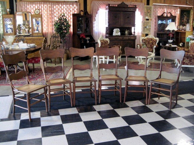 6 nice antique high back kitchen chairs with cane seats for 6 kitchen chairs for sale