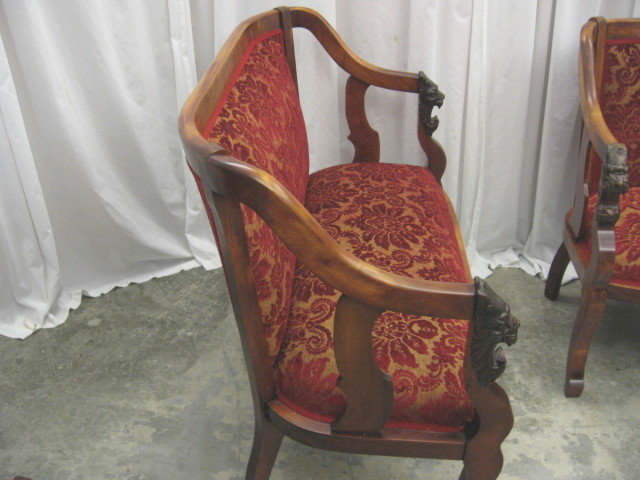 This is a beautiful 3 piece set, sofa, chair & a rocker. This. Antique Lion  Head Chair Antique Furniture | Source: antiquefurnituredesigns.com - Antique Lion Head Chair Antique Furniture
