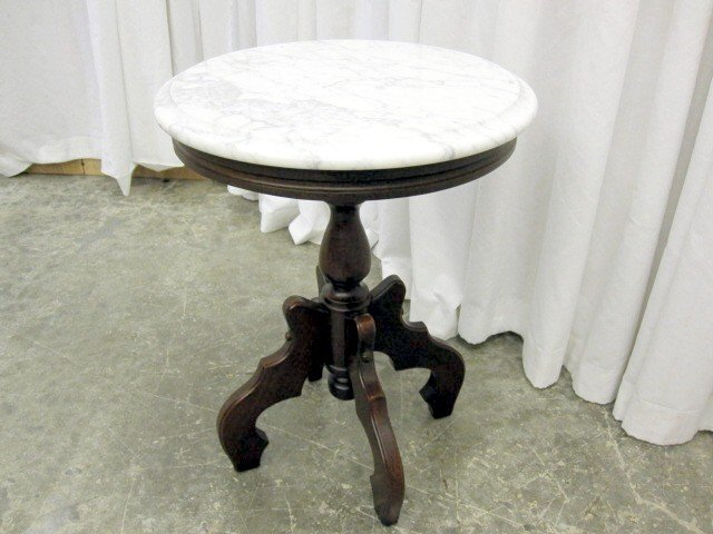 Small Victorian Style Italian Marble Table By Kimball   For Sale
