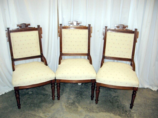 3 Extra Nice 1800's Eastlake Victorian Parlor Chairs - For Sale - 3 Extra Nice 1800's Eastlake Victorian Parlor Chairs For Sale