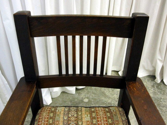 antique dark oak mission arts crafts rocking chair for sale classifieds. Black Bedroom Furniture Sets. Home Design Ideas