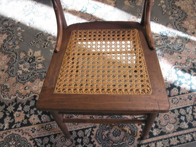 6 Nice Antique High Back Kitchen Chairs With Cane Seats - For Sale - 6 Nice Antique High Back Kitchen Chairs With Cane Seats For Sale