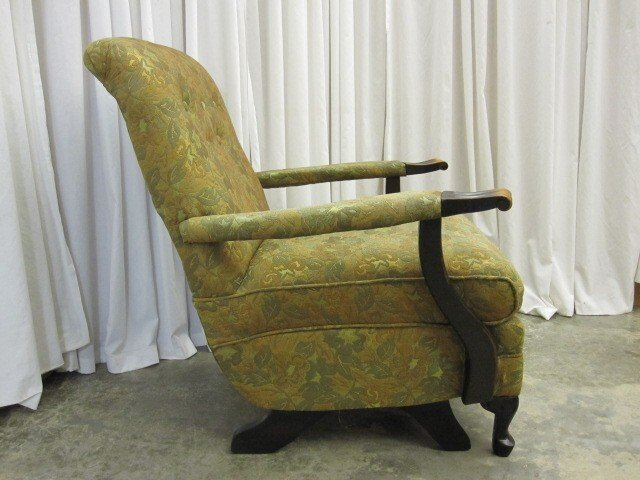 Antique Platform Reclining Arm Chair From The 1940 S For