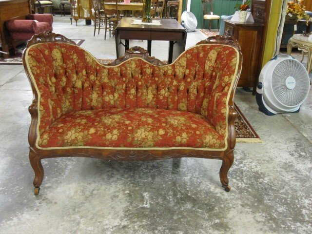 Extra Nice 1800s Antique Victorian Style Sofa Settee For