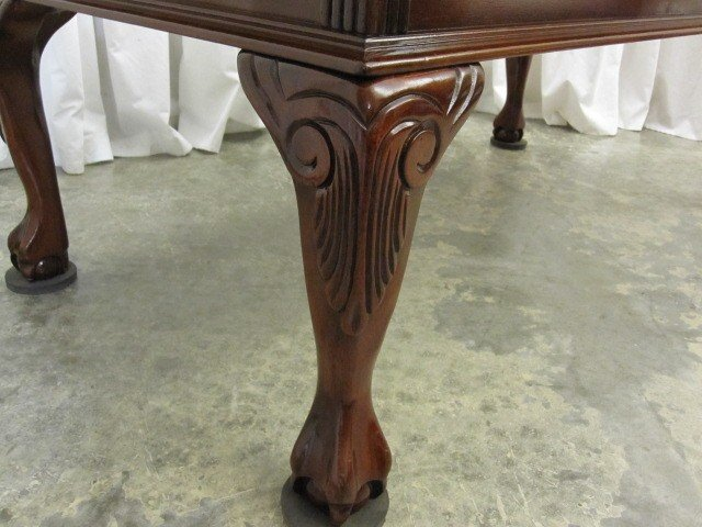 48 Lg Mahogany Coffee Table Queen Anne Ball Claw Feet For