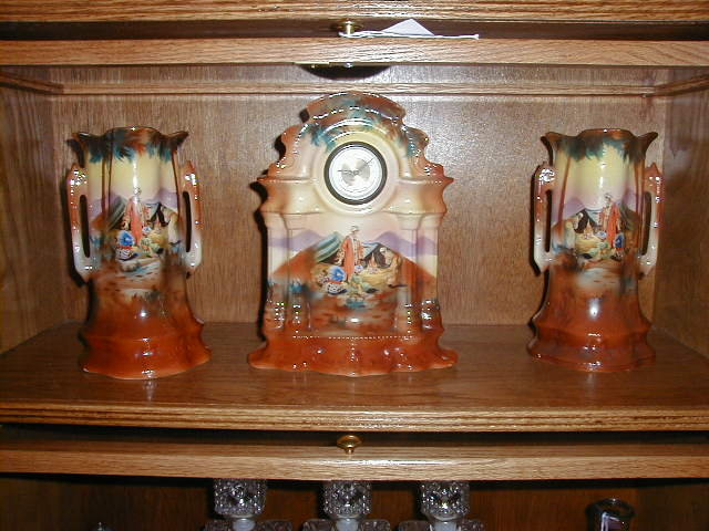 Beautiful German Porcelain Clock Vases For Sale Antiques
