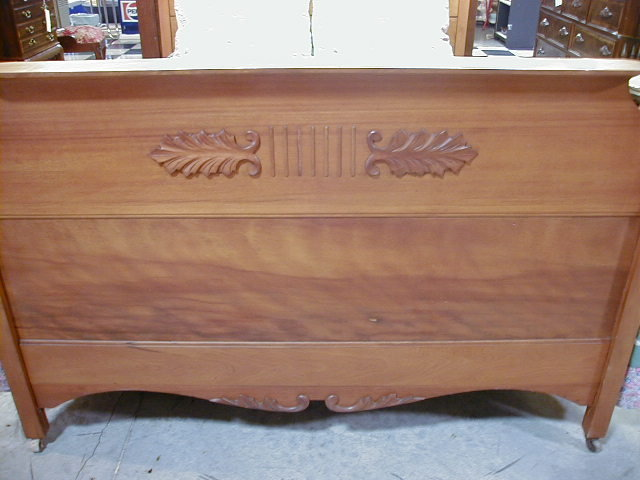 Gorgeous Antique 2 Pc Cherry Bedroom Set Bed Dresser For Sale Classifieds