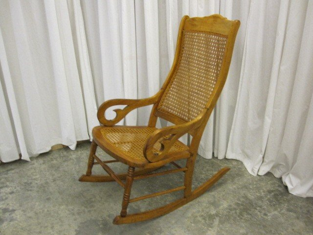 Brand New Antique Cane Rocking Chair | Antique Furniture JS45
