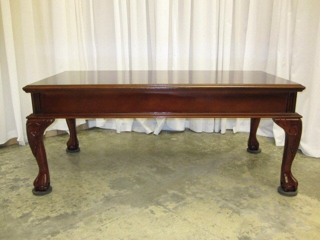 We Have For A Nice Mahogany Coffee Table With An Inlay Pattern In The Wood Has Queen Anne Legs Ball Claw Feet