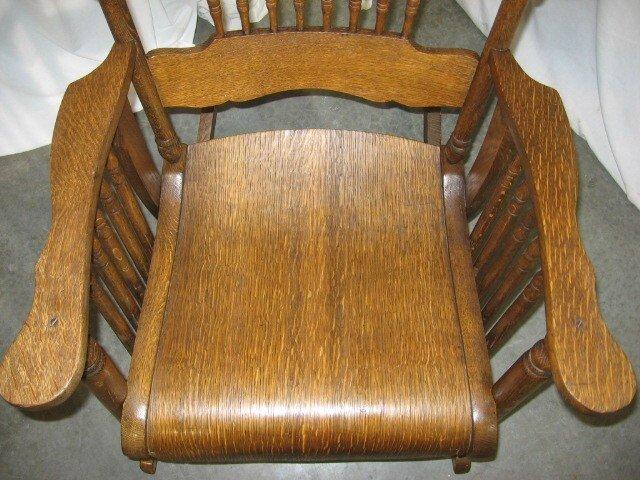 antique oak rocker