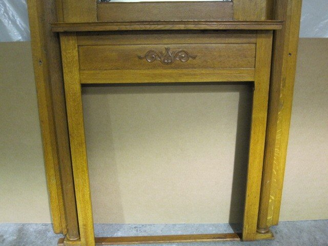 we sale extra nice antique oak arts crafts fireplace mantel beveled mirror top the great condition mantels houston south africa old and su